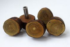 This handmade wooden knobs are made from solid sumac tree. Each knob has a screw for attaching. SIZE: Diameter- 2.6 cm (1), high of one handle - 3.5 cm