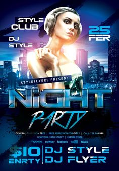 Night Party Free Flyer Template - http://freepsdflyer.com/night-party-free-flyer-template/ Enjoy downloading the Night Party Free Flyer Template Template created by Styleflyers!   #Club, #Color, #Colorful, #Dance, #Dj, #EDM, #Electro, #Event, #Lounge, #Nightclub, #Party, #Techno, #Trance