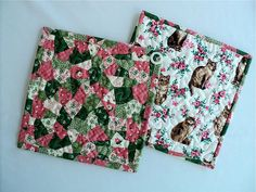 Quilted Brown Cat Pot Holders / Hot Pads / by DocksideDesigns, $12.00