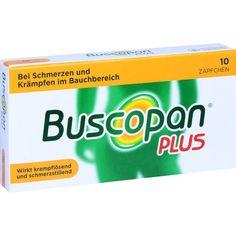 BUSCOPAN plus Suppositorien:   Packungsinhalt: 10 St Suppositorien PZN: 02483669 Hersteller: Boehringer Ingelheim Pharma GmbH & Co.KG…