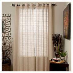 Yorkshire Home Mia Jacquard Grommet Curtain Panel : Target