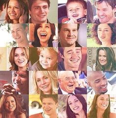 One Tree Hill characters collage!!