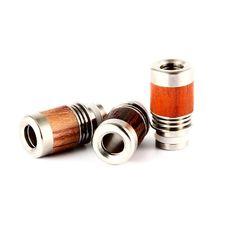 New! Stainless Steel & Wood Heatsink Design Wide Bore Drip Tips (WD015)