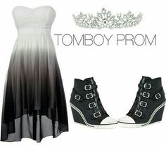 Tomboy Dresses, Tomboy Outfits, Cute Casual Outfits, Pretty Outfits, Pretty Prom Dresses, Homecoming Dresses, Cute Dresses, Bad Girl Outfits, Prom Outfits