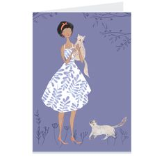 A pretty girl & her cats from illustrator Emma Block