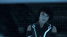 Olivia Wilde, Quorra, Tron Legacy. Awesome haircut.