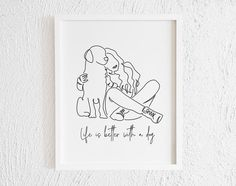 Dog Line Drawing, Dog Line Art, Dog Art, Doodle Wall, Doodle Drawings, Labradoodle, Cavapoo, Minimal Art, Petit Tattoo