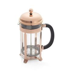Bodum ® Chambord Copper 34 Ounce French Press  | Crate and Barrel