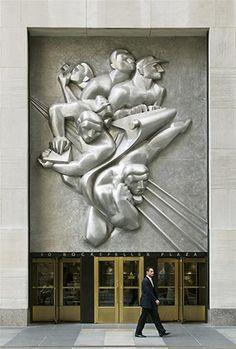 Bas Relief at Rockefeller Center  New York NY