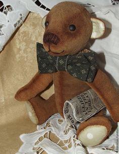 Мишка тедди Тимоша, коллекционная игрушка ручной работы - тедди,мишка
