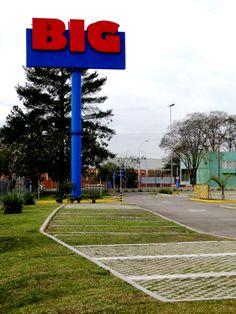 Ecopavimento nas instalações da rede de supermercados BIG.