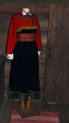 """Lovely folk dress from Heddal, Norway Norwegian Style, Norse Vikings, Folk Dance, Folk Costume, Dance Outfits, Traditional Dresses, Folklore, Two Piece Skirt Set, Norway"