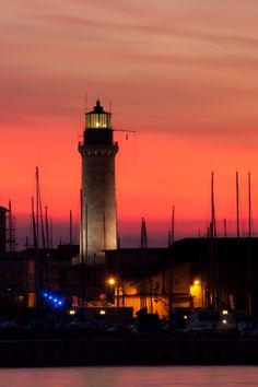 Lanterna Lighthouse in Trieste, Italy by grinchpicolo Trieste, Beacon Of Light, Light In The Dark, Dark Places, Places To Go, Lighthouse Lighting, Lighthouse Keeper, Light Of The World, Costa
