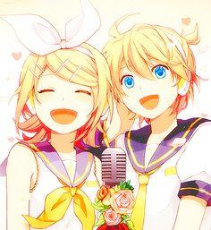 Kagamine Rin and Kagamine Len <3