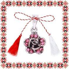 Martisor Pandantiv Floricica Pietre Roz Drop Earrings, Jewelry, Jewlery, Jewerly, Schmuck, Drop Earring, Jewels, Jewelery, Fine Jewelry