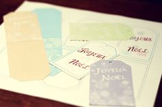 Free printable gifts tags #French #Christmas #Noel