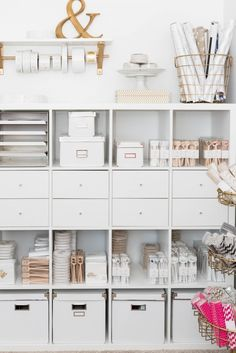 IKEA Hacks That'll Answer All Your Craft Storage Woes If you're short on room, optimizing your space with tall shelves is the way to go.If you're short on room, optimizing your space with tall shelves is the way to go.