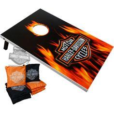 offical licensed harly davidson cornhole game | DW-66279 - Harley-Davidson® Bean Bag Toss Game