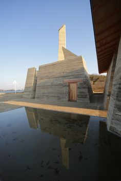 Image 1 of 13 from gallery of Zenkonyu × Tamping Earth (Work in the Setouchi Triennale / Tadashi Saito + Atelier NAVE. Photograph by Toshihiro Misaki Sustainable Architecture, Contemporary Architecture, Art And Architecture, Residential Architecture, Pavilion Architecture, Vernacular Architecture, Architecture Details, Rammed Earth Homes, Rammed Earth Wall