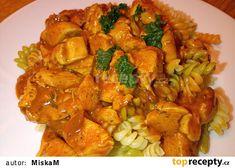 Marinované kuřecí kousky v omáčce recept - TopRecepty.cz Shrimp, Menu, Chicken, Cooking, Menu Board Design, Cubs