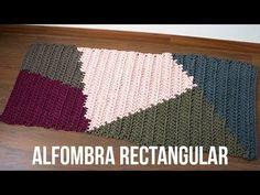 Alfombra rectangular de trapillo con tapestry - MissDIY