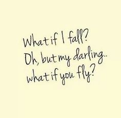 Oh but I want to fly.