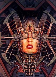 DORIAN CLEAVENGER, Sight, Cyberpunk, Science Fiction Art