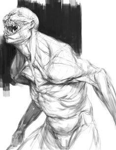 Tobias Kwan - The Order: 1886 · Concept Art Monster Concept Art, Alien Concept Art, Creature Concept Art, Monster Art, Arte Horror, Horror Art, Creature Feature, Creature Design, Weird Creatures