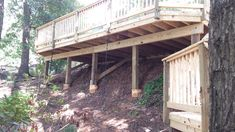 Image result for decking on a steep slope