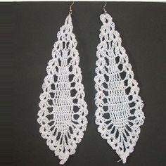 Hand Crocheted Dangle earrings