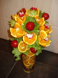 Image result for edible fruit and veg art for first birthday