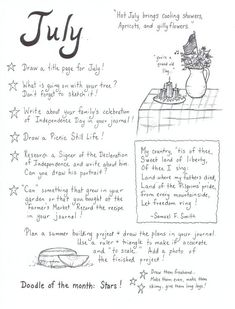 JournalJuly- There are others like this on the blog and I think it might be fun to follow the prompts one month