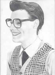 Marcel / Harry Styles drawing by ElizabethHudy, via Flickr