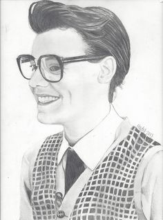 Marcel / Harry Styles drawing by ElizabethHudy, via Flickr