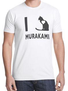 Men's I Love Haruki Murakami shirt by theantianti on Etsy, $20.00