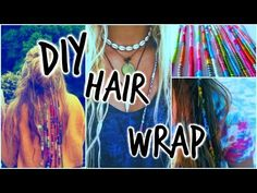 Best ideas for hair extensions diy fun - hair - Hair One Dreadlock, Dreadlock Hairstyles, Boho Hairstyles, Dreadlocks, String Hair Wraps, Thread Hair Wraps, Hair Threading, Boho Diy, How To Make Hair