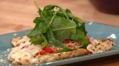 Make a pizza-style chicken dinner! Pizzette-Style Chicken Paillards are #whatsfordinner.