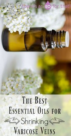 The Best Essential Oils for Shrinking Varicose Veins - Essential oils can stimulate blood flow, tone and strengthen vein walls, and thin sticky blood.