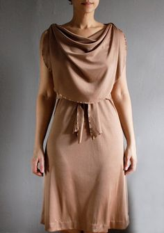 1970's bronze goddess dress
