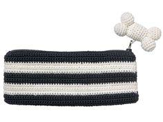 Black Crochet Pencil Case