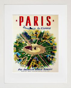 Art Paris Travel Poster France Print Vintage ZT225
