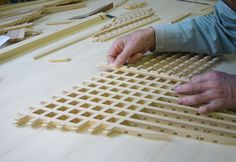 Japanese wooden screen joinery
