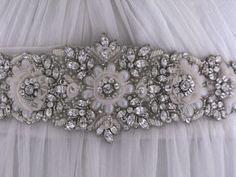 Jewelled bridal belt or crystal sash - Alethea