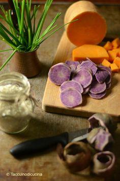 Delicious purple patatoes
