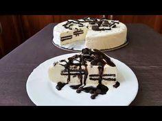 Εύκολη τούρτα παγωτό με oreo!! - YouTube Cream Cake, Ice Cream, Tiramisu, Oreo, Waffles, Pudding, Breakfast, Ethnic Recipes, Youtube