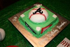 Atlanta Braves cake- My birthday is coming up soon, I need this in my life!
