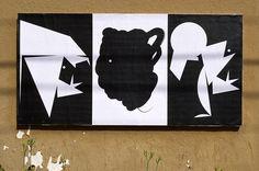 "Andrea Dell'Anna, Ficciones Typografika 586-588 (24""x36""). Installed on July 27, 2014. More: http://ficciones-typografika.tumblr.com/"