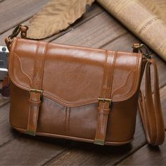 Messenger Bag - Leather Crossbody Messenger Bag - DSLR Camera Messenger Bag - Mens Leather Laptop Messenger Bag