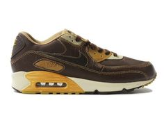 Nike Air Max 90 Deluxe Huf Brown White Yellow,Style code:314609-221,Colorway:Brown/White/Yellow