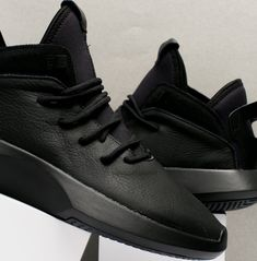 b241d93015e adidas Crazy 1 ADV Black Leather - Sneaker Bar Detroit Detroit